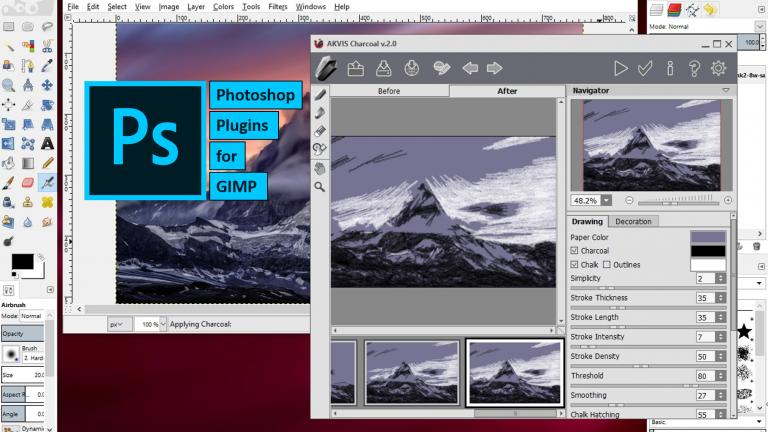 photoshop plugins for gimp, pspi, photoshop plugins works on gimp
