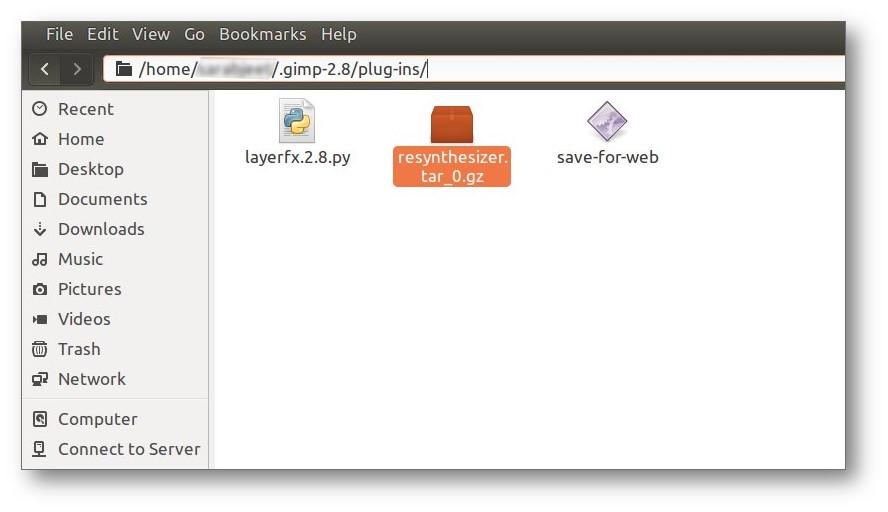 GIMP Resynthesizer Plugin LINUX