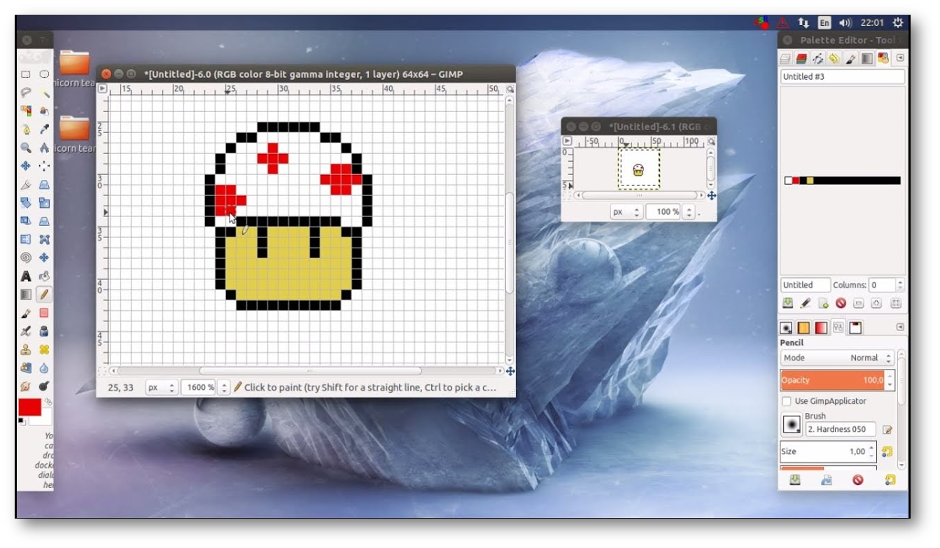 Setting GIMP for pixel art